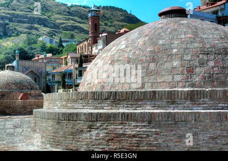 Sulphur Bathhouses, Tbilisi, Georgia - Stock Photo