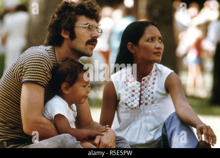 Family Enjoys a Fourth of July Holiday in a Park at Sleepy Eye, Minnesota, Which Is 12 Miles West of New Ulm ca. 1975 - Stock Photo