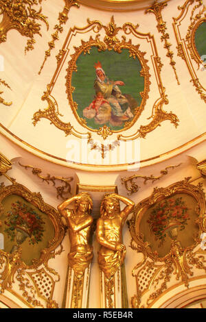 Ballroom, Palacio de Queluz, Lisbon, Portugal - Stock Photo
