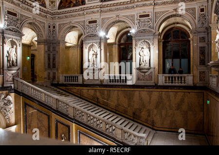 Vienna, Austria -  November 24 2018: Internal staircase of the Natural History Museum - Stock Photo
