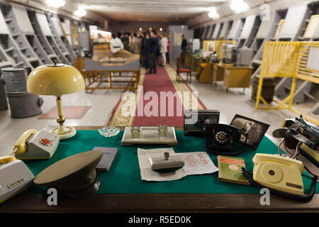 Russia, Moscow, Taganka-area, ZKP Tagansky Cold War Museum, underground communication bunker - Stock Photo