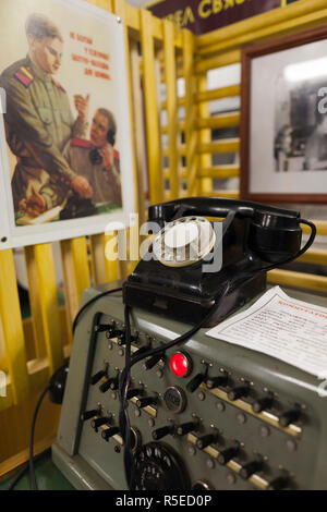Russia, Moscow, Taganka-area, ZKP Tagansky Cold War Museum, underground communication bunker, communications - Stock Photo
