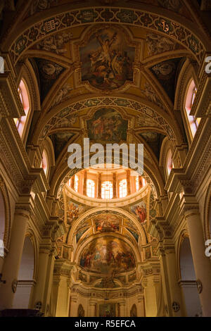 Malta, Gozo Island, Gharb, Church of the Visitation, interior - Stock Photo