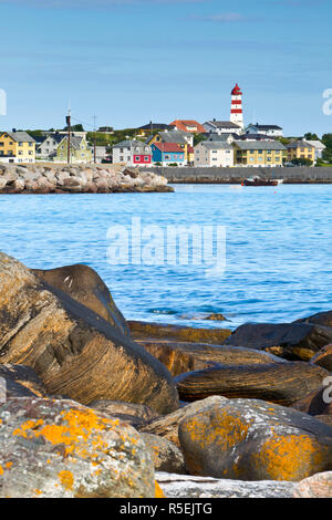 Alnes Lighthouse, Alnes, Godoy, More og Romsdal, Norway - Stock Photo