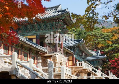 South Korea, Gyeongju, Bulguksa Temple - Stock Photo