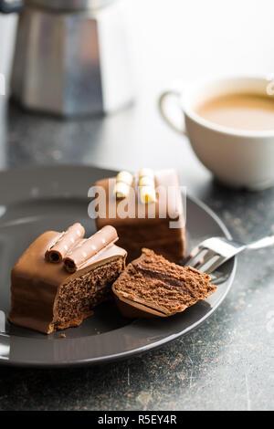 Sweet chocolate dessert. - Stock Photo