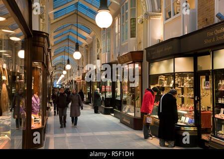 Burlington Arcade, London, UK - Stock Photo