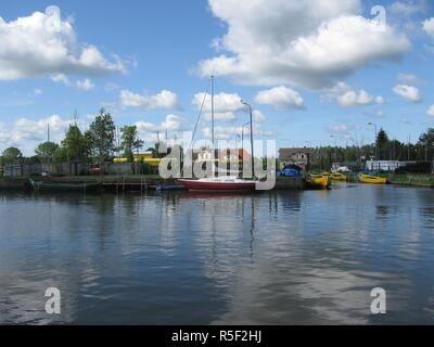 fishing village on the szczecin lagoon - Stock Photo
