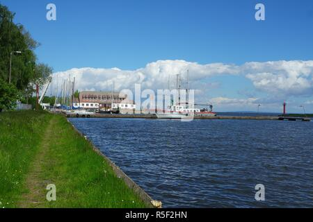 place on the oderhaff - Stock Photo