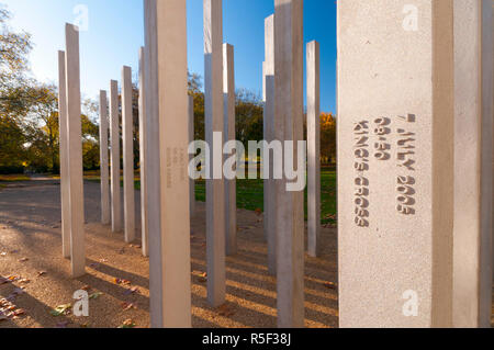 UK, England, London, Hyde Park, 7th July Memorial to victims of the 2005 bombings - Stock Photo