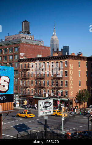 Buildings on 10th Avenue, Chelsea, Manhattan, New York City, USA - Stock Photo
