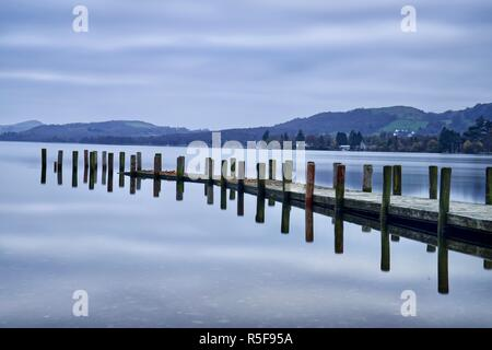 Coniston water in the Lake District National Park - Stock Photo