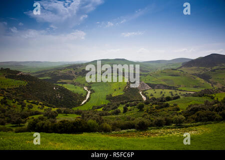 Tunisia, Northern Tunisia, Sejenane, Sejenane River Valley, springtime - Stock Photo