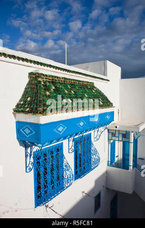 Tunisia, Sidi Bou Said, house detail - Stock Photo