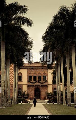 USA, Florida, Sarasota, Ringling Museum, Ca d'Zan, John Ringing Mansion - Stock Photo