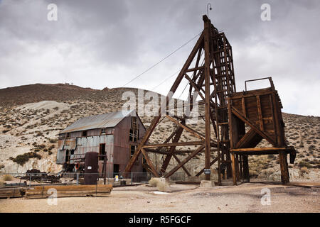 USA, Nevada, Great Basin, Tonopah, Tonopah Historic Mining Park - Stock Photo