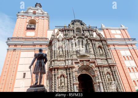 Basilica and Convent of Nuestra Señora de la Merced, Lima - Stock Photo