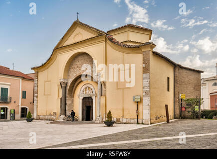 Santa Sofia church, 8th century, Byzantine style, housing Samnium Museum, in Benevento, Campania, Italy - Stock Photo