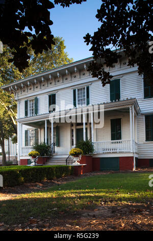USA, Alabama, Montgomery, First White House of the Confederacy, home to Confederate President Jefferson Davis during the US Civil War