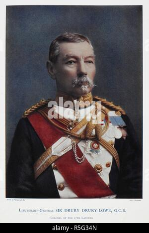 Lieutenant-General Sir Drury Drury-Lowe, G.C.B. (1830-1908). Celebrities of the Army. [Coloured portraits, with short biographical notices.]. London : George Newnes, 1900. Source: 1766.a.3, page 53. Language: English. Author: Robinson, Charles Napier. - Stock Photo