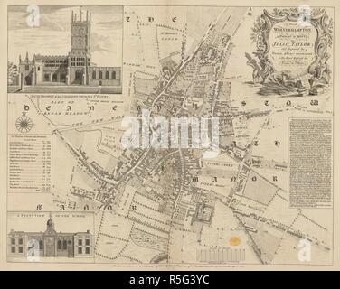 A Plan of Wolverhampton. A Plan of Wolverhampton, surveyed in 1750. 1751. Source: Maps K.Top.38.48. Language: English. Author: Jefferys, Thomas. - Stock Photo