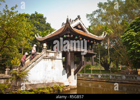 One Pillar Pagoda, Hanoi, Vietnam - Stock Photo
