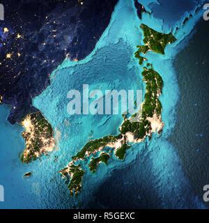 Japan and Korea - Stock Photo
