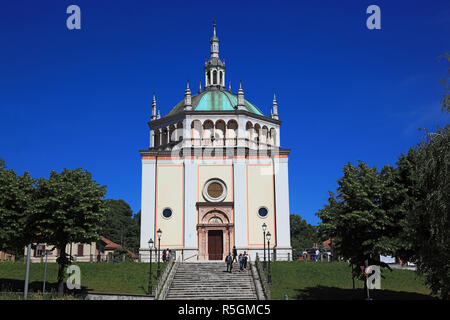Church Chiesa del Santissimo Nome di Maria, Crespi d'Adda, Lombardy, Italy - Stock Photo