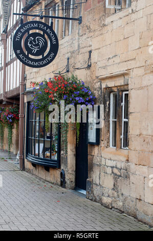 The Bantam Tea Rooms in Chipping Campden in the Cotswolds, Gloucestershire, England - Stock Photo
