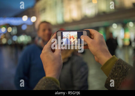 Taking Photos In Town - Stock Photo