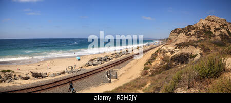 Summer at the San Clemente State Beach - Stock Photo