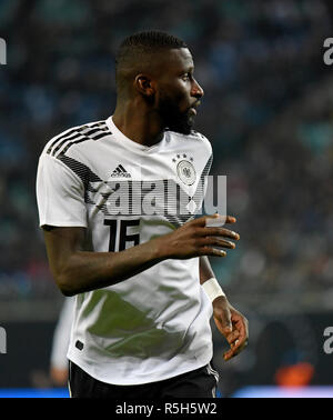 Leipzig, Germany - November 15, 2018. Germany national team defender Antonio Rudiger during international friendly Germany vs Russia in Leipzig. - Stock Photo