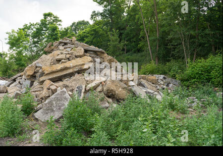 rubble heap at the forest - Stock Photo