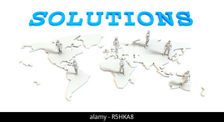 Solutions Global Business - Stock Photo