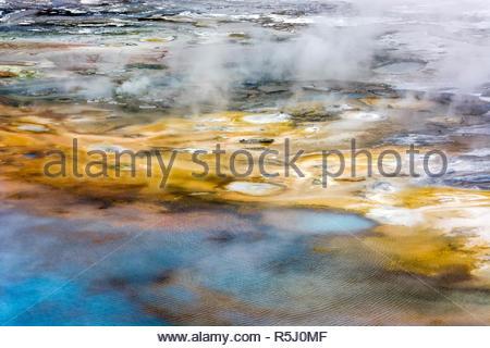 Norris Geyser Basin - Stock Photo