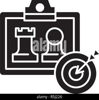 Business model generation black icon, vector sign on isolated background. Business model generation concept symbol, illustration  - Stock Photo