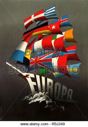 Europa. Marshall Plan. Museum: PRIVATE COLLECTION. Author: Dirksen, Reyn. Copyright: This artwork is not in public domain. It is your responsibility to obtain all necessary third party permissions from the copyright handler in your country prior to publication. - Stock Photo