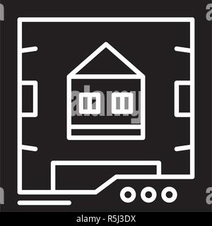 3d scanner black icon, vector sign on isolated background. 3d scanner concept symbol, illustration  - Stock Photo