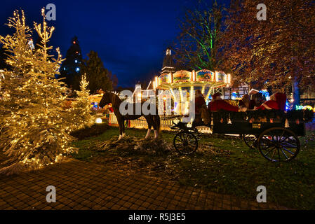 Winter Christmas Holiday in Europa-Park - Stock Photo