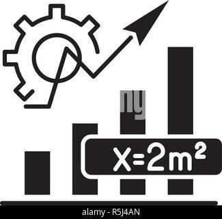 Mathematics formula black icon, vector sign on isolated background. Mathematics formula concept symbol, illustration
