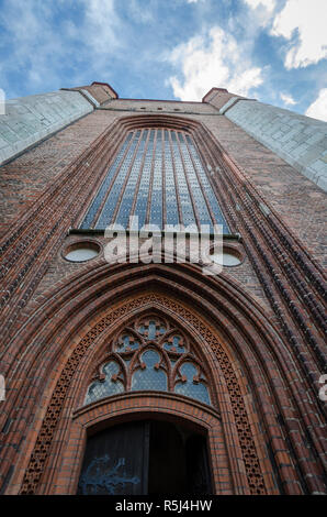 St Mary's Church tower, Stralsund, Germany - Stock Photo