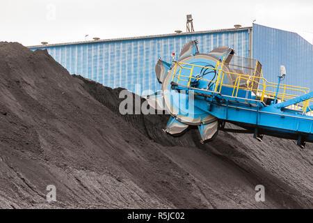 Detail of bucket wheel excavator - Stock Photo