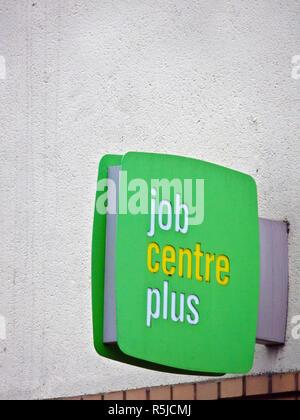 Job Centre Plus Sign, UK - Stock Photo