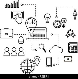 concept seo optimization in search engine, for graphic and web design - Stock Photo