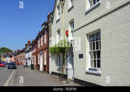 Period houses, West Borough, Wimborne Minster, Dorset, England, United Kingdom - Stock Photo