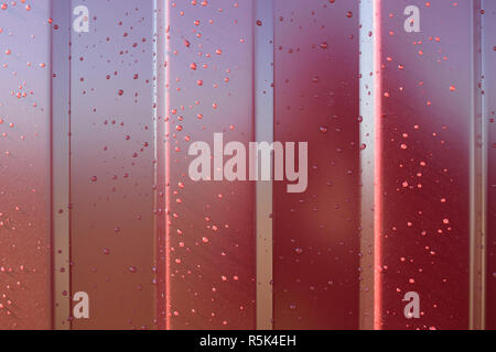 metal profile. Diagonal pattern of metal profile. Fences from the galvanized iron painted by a polymeric covering. - Stock Photo