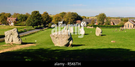 Part of Avebury stone circle. - Stock Photo