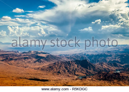 Storm Approaching Mountains near Las Vegas - Stock Photo