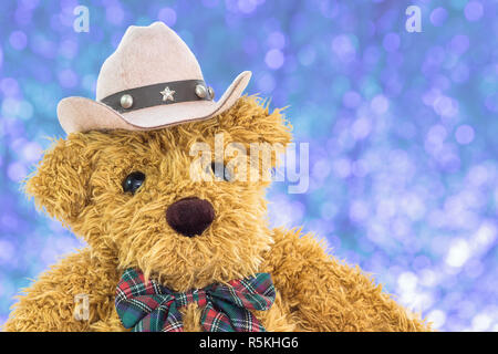 5f481335405 Close up cowboy teddy bear on white Stock Photo  276951085 - Alamy