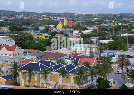 Overlooking Kralendjik, Bonaire, Dutch, Leeward Antilles, Caribbean - Stock Photo
